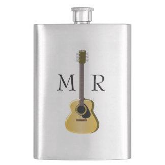 Monogrammed Acoustic Guitar Hip Flask