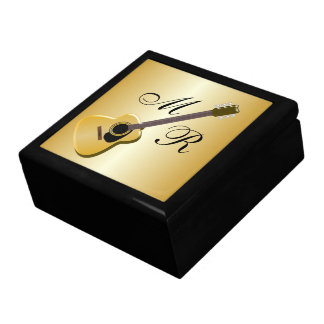 Monogrammed Acoustic Guitar Large Square Gift Box
