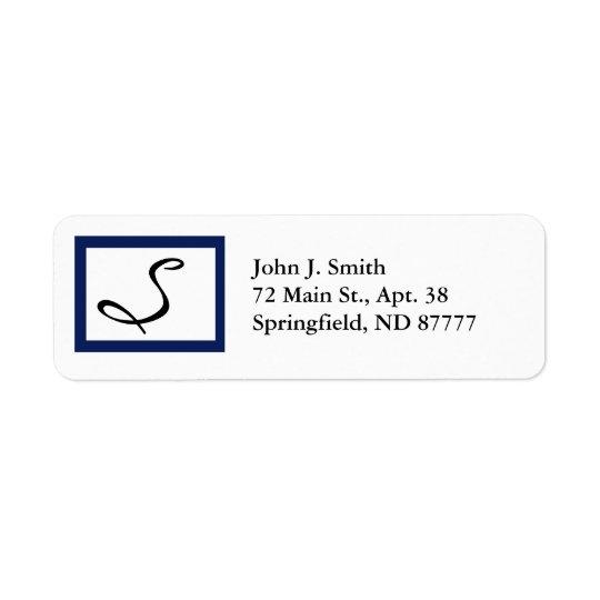 Monogrammed Address Labels