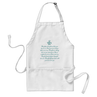 Monogrammed Apron with old Irish Verse