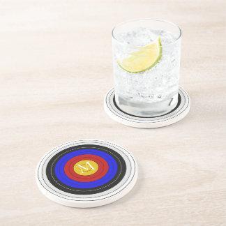 Monogrammed Archery Target Drink Coasters