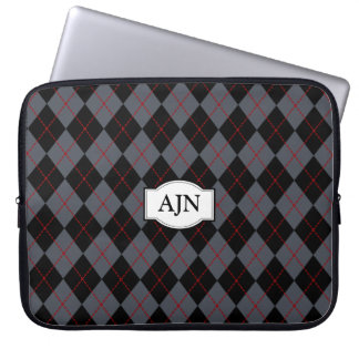 Monogrammed Argyle Laptop Bag Laptop Sleeve