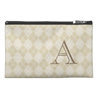 Monogrammed Argyle Trave Bag