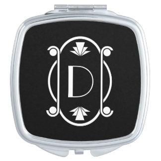 Monogrammed Art Deco Mirror For Makeup