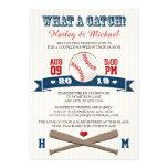 Monogrammed Baseball Couples Wedding Shower Custom Invite