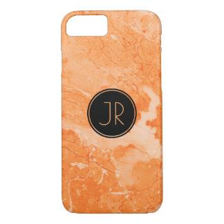 Monogrammed Beige Marble Texture Print iPhone 8/7 Case