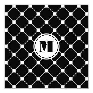Monogrammed Black Diamond Invitation