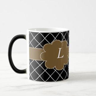 Monogrammed Black Diamond Magic Mug