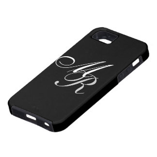 Monogrammed Black iPhone 5 Cover