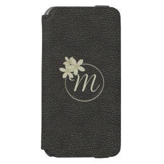 Monogrammed Black Leather Effect iPhone 6s Wallet Incipio Watson™ iPhone 6 Wallet Case