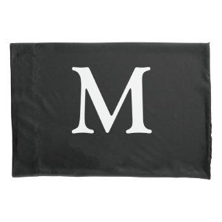 Monogrammed Black Pillowcase