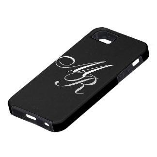 Monogrammed Black Tough iPhone 5 Case