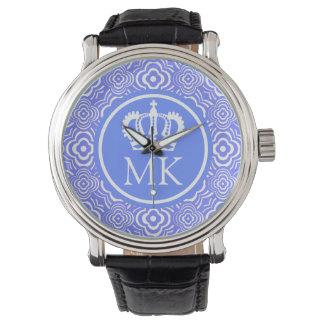 Monogrammed Blue Peddler Big Boss Watch