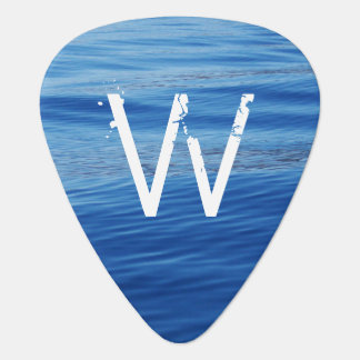 Monogrammed Blue Water on Lake Tahoe Plectrum
