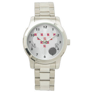 Monogrammed Bowling Design Watches