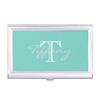 Monogrammed Business Card Holder