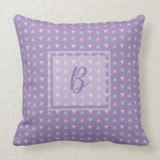 Monogrammed Candy Colour Triangle Pattern Cushion