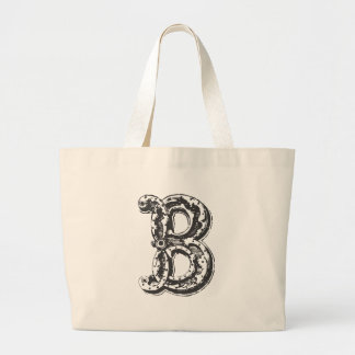 Monogrammed Canvas Tote Bag - B