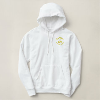 Monogrammed captain and anchor personalized embroidered hoodie