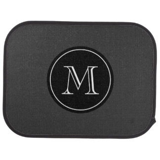Monogrammed car mats with elegant initial letter floor mat