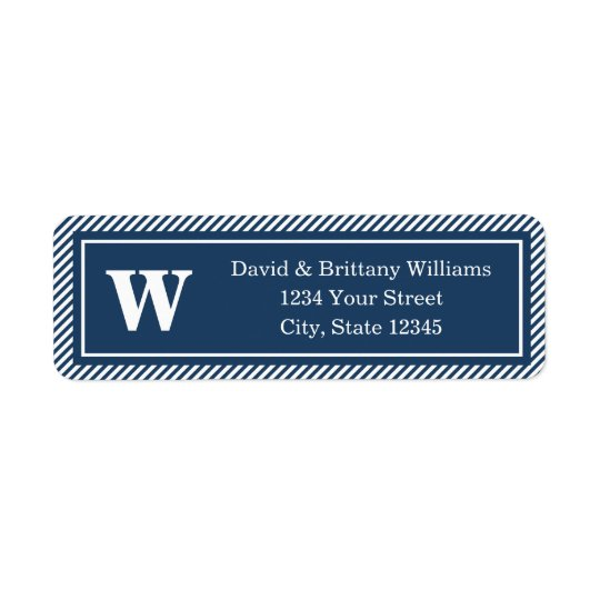 Monogrammed Christmas Holiday Return Address Label