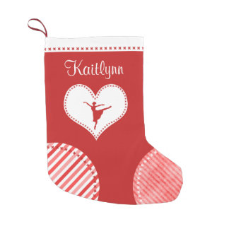 Monogrammed Christmas Patches Dance Small Christmas Stocking