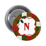 Monogrammed Christmas Quilt Patchwork Badge