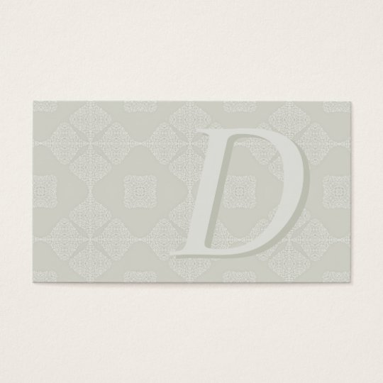 Monogrammed Classic Shades of White Business Cards