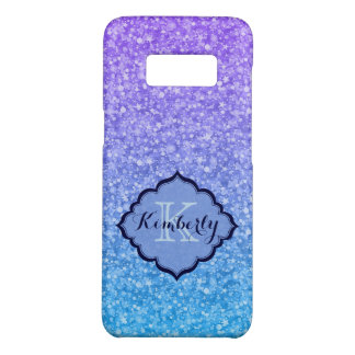 Monogrammed Colorful Glitter And White Sparks Case-Mate Samsung Galaxy S8 Case