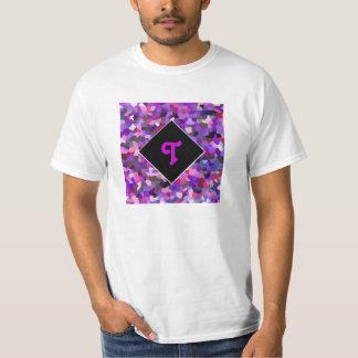 Monogrammed Confetti Purple Tee Shirts