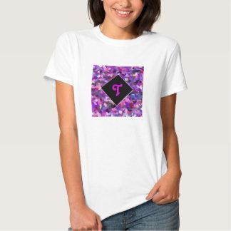 Monogrammed Confetti Purple Tshirts