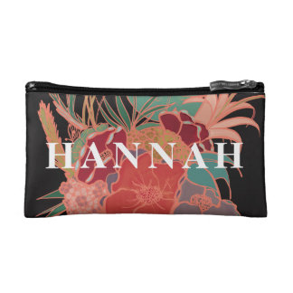 Monogrammed Cute Floral Personalized Makeup Bag