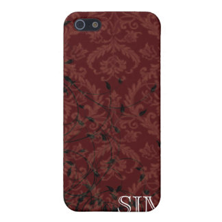 Monogrammed Damask Speck iphone Case Cover For iPhone 5/5S