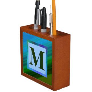Monogrammed Desk Organizer
