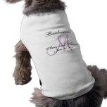 Monogrammed Dog Bridesmaid Wedding Sleeveless Dog Shirt