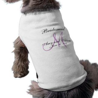 Monogrammed Dog Bridesmaid Wedding Pet Tee