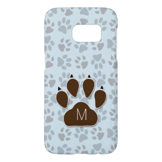 Monogrammed Dog Lover's Blue and Brown