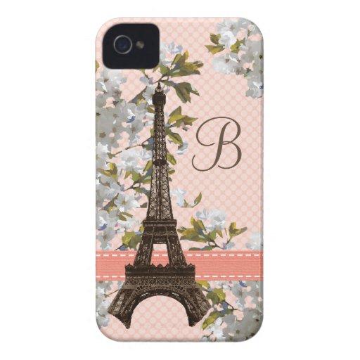 Monogrammed Eiffel Tower Blackberry Bold Case Cove