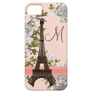 Monogrammed Eiffel Tower iPhone 5 Covers