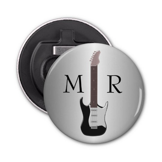 Monogrammed Electric Guitar Bottle Opener