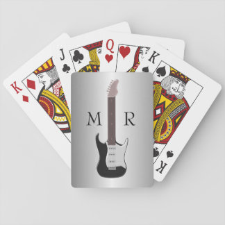 Monogrammed Electric Guitar Playing Cards