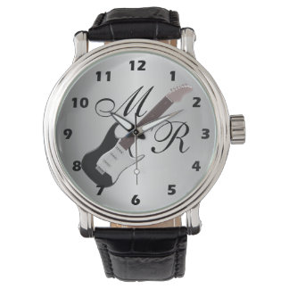 Monogrammed Electric Guitar Watch