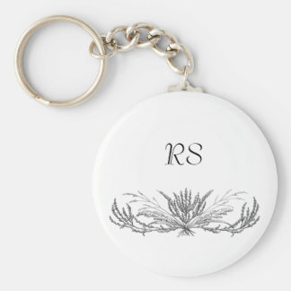 Monogrammed Elegance Keychains
