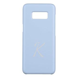 Monogrammed Elegant Soft Light Blue Case