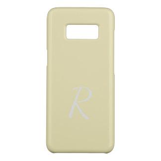 Monogrammed Elegant Soft Pale Yellow Case