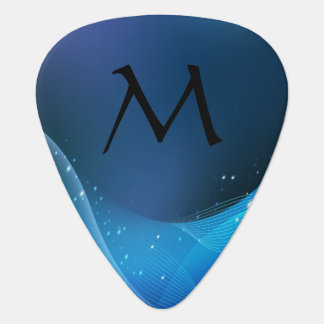 Monogrammed Event Horizon in Blue - Guitar Pic Plectrum