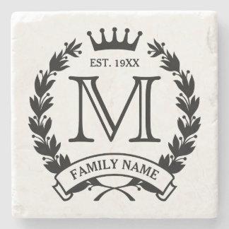 Monogrammed Family Logo Stone Coaster