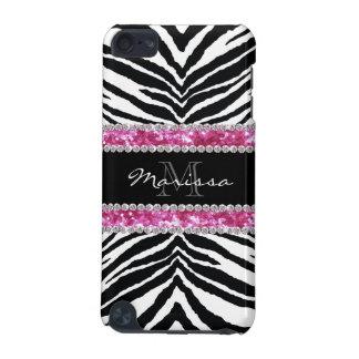 Monogrammed Faux Glitter Bling Rhinestone Girl's iPod Touch 5G Cases