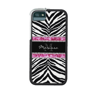 Monogrammed Faux Glitter Bling Rhinestone Girl's iPhone 5/5S Cases