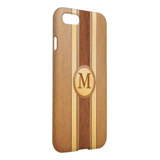Monogrammed Faux wood iPhone 7 Case